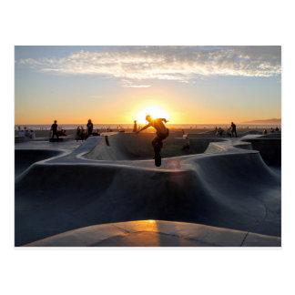 Skater At sunset Postcard