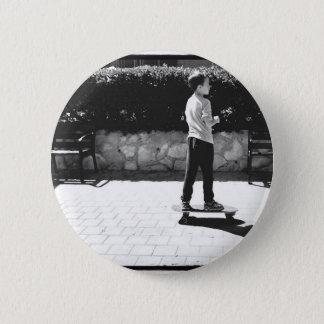 skater boy 6 cm round badge