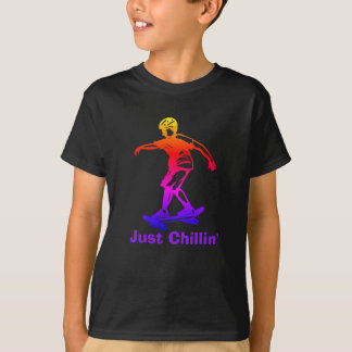 Skater Boy Just Chillin' Rainbow Skateboarder T-Shirt