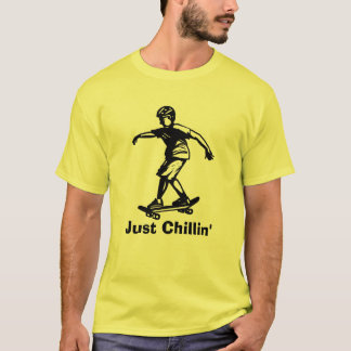 Skater Boy Just Chillin' Skateboarder T-Shirt