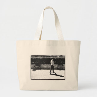 skater boy large tote bag