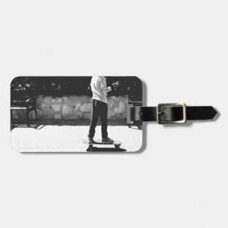 skater boy luggage tag