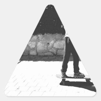 skater boy triangle sticker