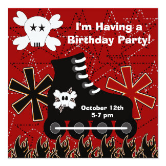 Skater Dude Birthday Party Invitation