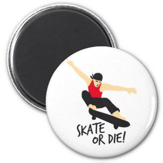 Skater E 3c 6 Cm Round Magnet