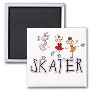 Skater Girl T-shirts and Gifts Square Magnet