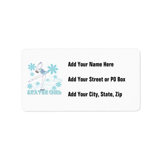 Skater Girl Tshirts and Gifts Address Label