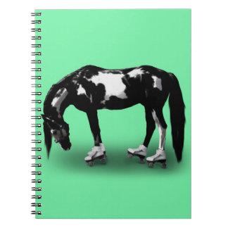 Skater Horse Spiral Notebook