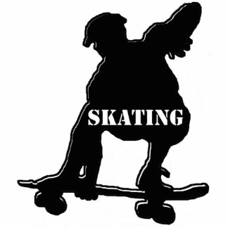 Skater in black cut out