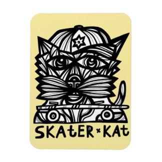 """""""Skater Kat"""" 3""""x4"""" Magnet"""