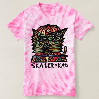 """Skater Kat"" Women's Cyclone Tie-Dye T-Shirt"