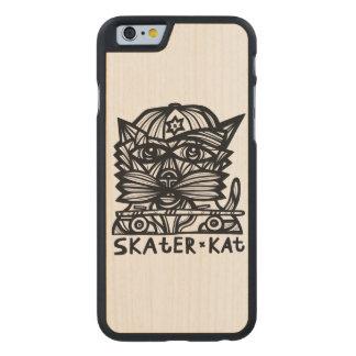 """Skater Kat"" Wood Phone Case"