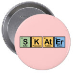 Skater made of Elements Buttons