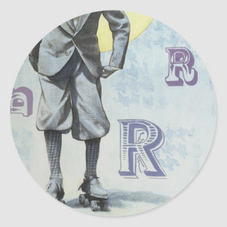Skater Round Sticker