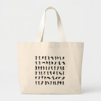 Skater Silhouettes Large Tote Bag