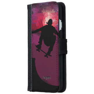 Skater Skating iPhone 6 Wallet Case