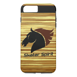 Skater Spirit iPhone 7 pluses covering with wood iPhone 8 Plus/7 Plus Case