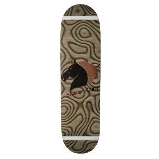 """Skater Spirit "" symbol/skateboard in brown Skate Decks"
