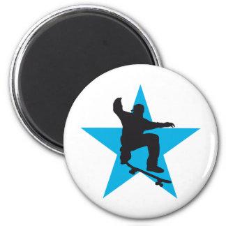 Skater star C 2C 6 Cm Round Magnet