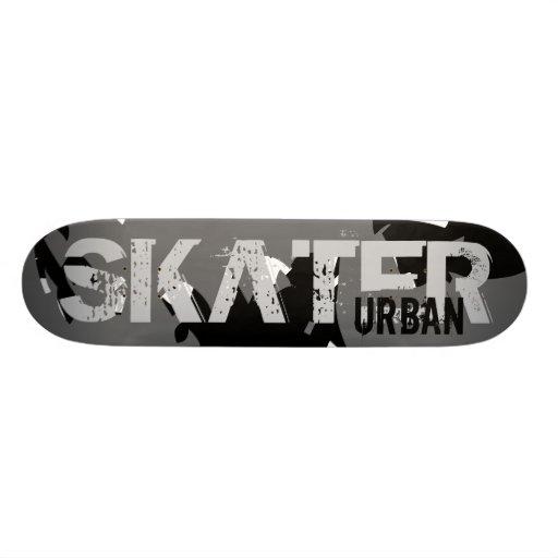 SKATER URBAN SKATE DECK