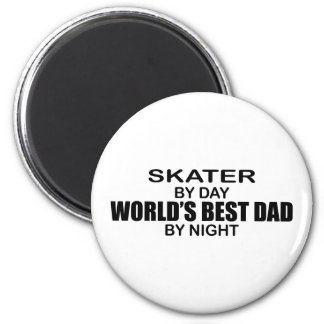 Skater - World's Best Dad by Night Magnet