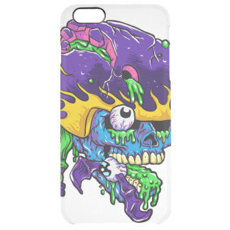 Skater zombie. clear iPhone 6 plus case