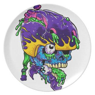 Skater zombie. dinner plates
