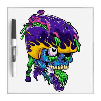 Skater zombie. dry erase whiteboard