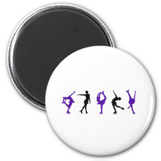 skaters only 6 cm round magnet