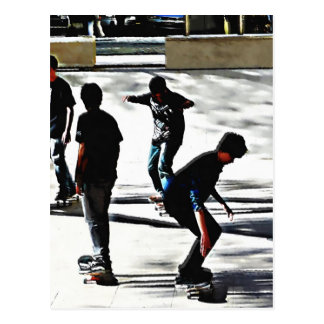 Skaters Postcard