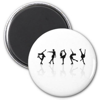 Skaters & Reflections 6 Cm Round Magnet