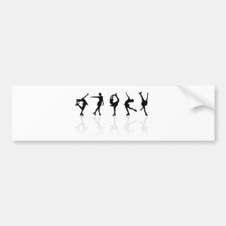 Skaters & Reflections Bumper Sticker