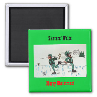 Skaters' Waltz Square Magnet