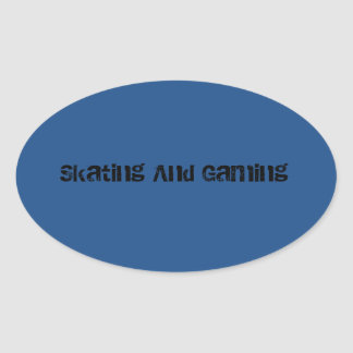 Skating And Gaming Helmet Stickers! Oval Sticker