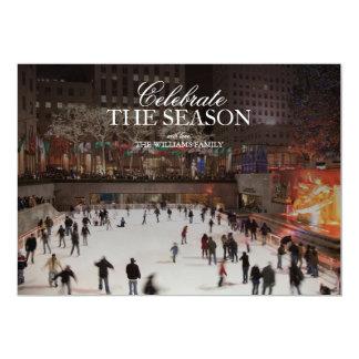 Skating at ice skating rink in Rockefeller Center 13 Cm X 18 Cm Invitation Card