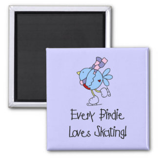 Skating Birdie Tshirts and Gifts Magnet
