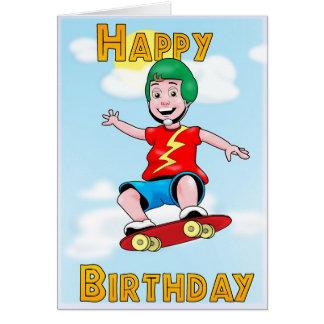Skating Birthday Card