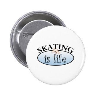 Skating is Life 6 Cm Round Badge