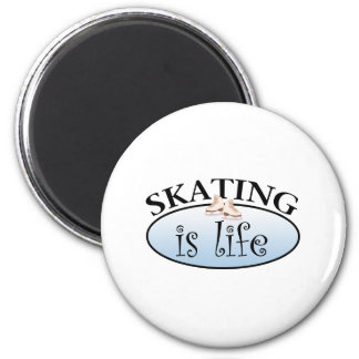 Skating is Life 6 Cm Round Magnet