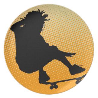 skating man Plate