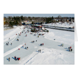 Skating on Dow's Lake at Bronson Bridge Greeting Card