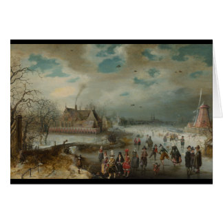 Skating on Frozen Amstel River Card