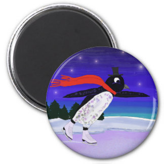 Skating Penguin Magnet