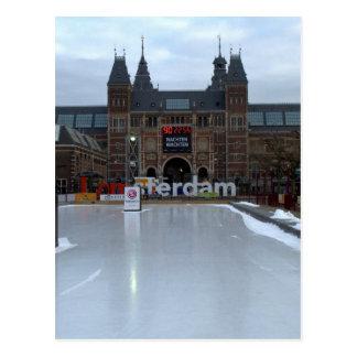 Skating rink Museumplein Amsterdam Post Card