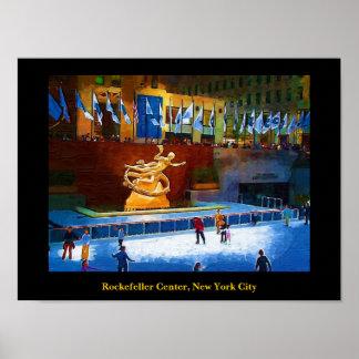 Skating Rink, Rockefeller Center, New York City Poster