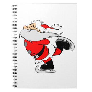 Skating Santa Claus on Christmas Notebooks