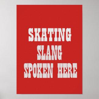 Skating slang poster