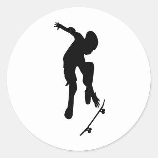 Skating Round Sticker