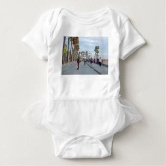 skating to venice beach baby bodysuit