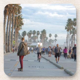 skating to venice beach beverage coasters